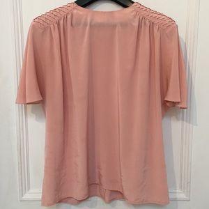 Blush Pink Flutter Sleeve Flowy Vintage Tshirt